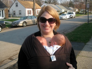 Attachment Parenting Twins:  Babywearing
